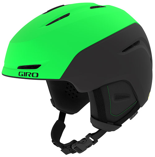 GIRO neon green ski helmet